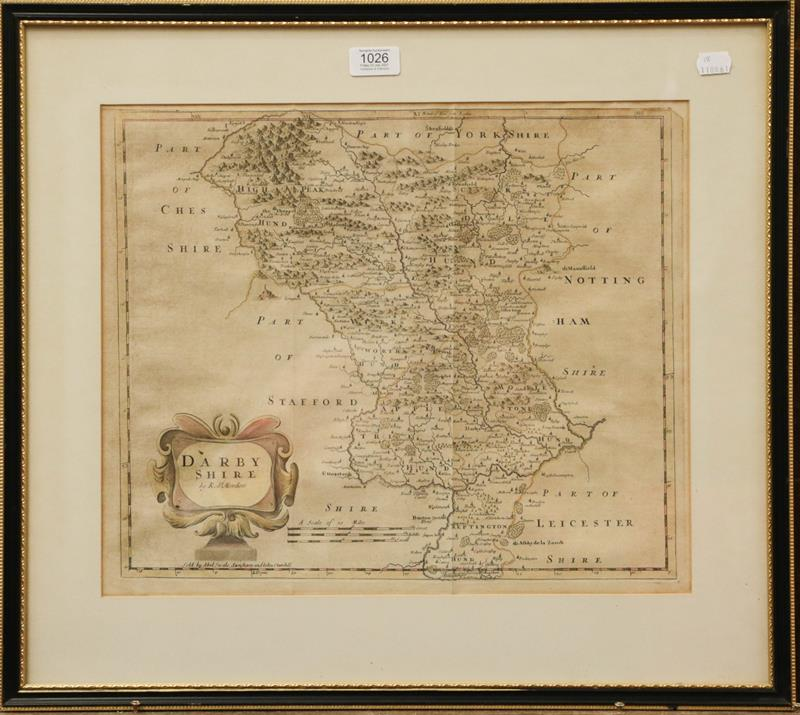 Three Robert Morden maps, to include Derbyshire, The County of Chester, and Yorkshire (3) - Image 3 of 3