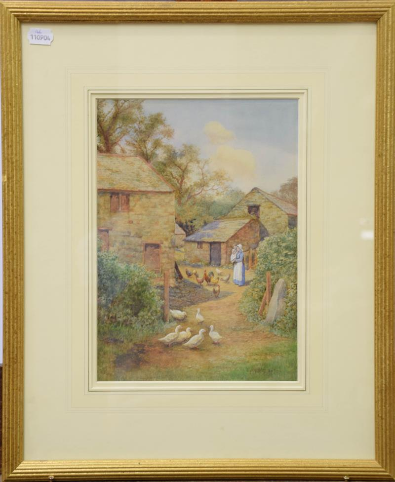 S Harris Oxton (British fl. 1886-1930) a pair of watercolour views of Glan Conway Mill, June 1916