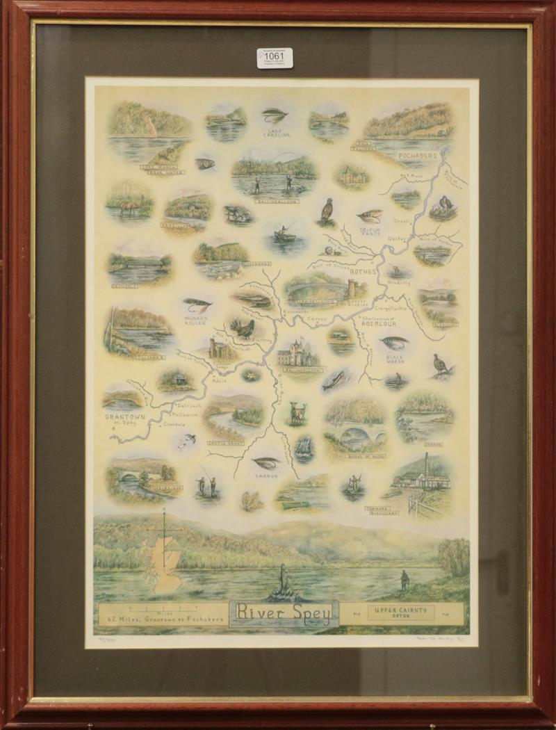 David Eley, two limited edition signed prints of the river Spey and the river Dee, 60cm by 42cm (2) - Image 2 of 2