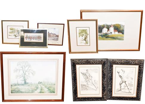 A large collection of mainly 20th/ 21st century pictures to include prints after old masters, oil on