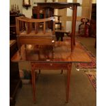 A George III mahogany Pembroke table together with an occasional table and a Canterbury (3)