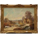 Louis Jennings Contemporary, The penine coach, oil on canvas, inscribed verso, 55cm by 75cm