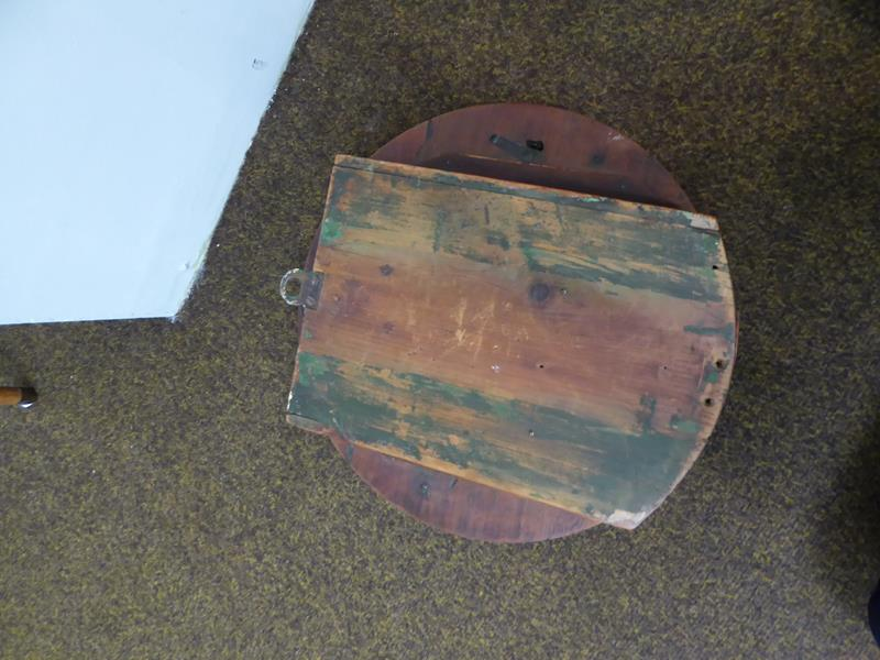 A 19th century eight day railway wall mounting timepiece in mahogany case, with painted 12'' dial - Image 4 of 11