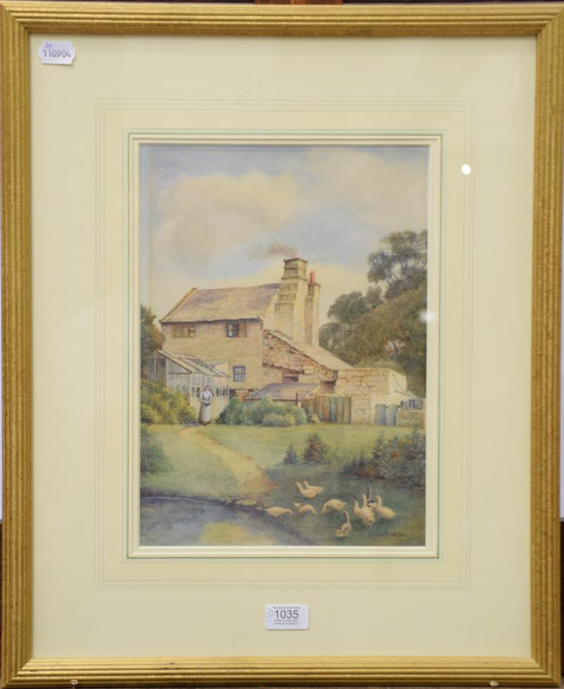 S Harris Oxton (British fl. 1886-1930) a pair of watercolour views of Glan Conway Mill, June 1916 - Image 2 of 2
