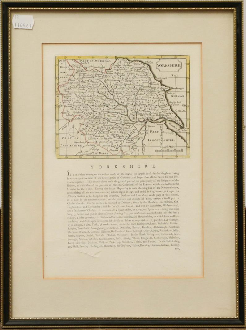 Three Robert Morden maps, to include Derbyshire, The County of Chester, and Yorkshire (3) - Image 2 of 3