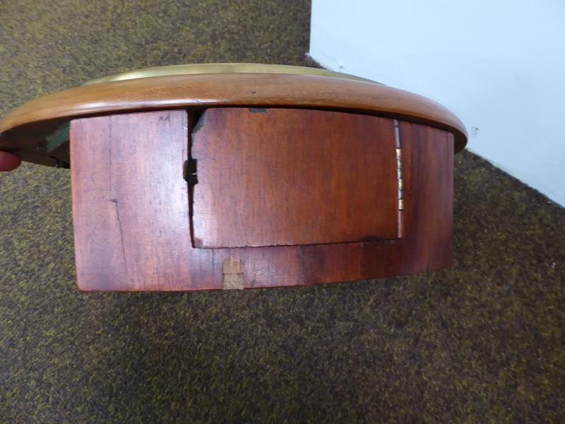 A 19th century eight day railway wall mounting timepiece in mahogany case, with painted 12'' dial - Image 3 of 11