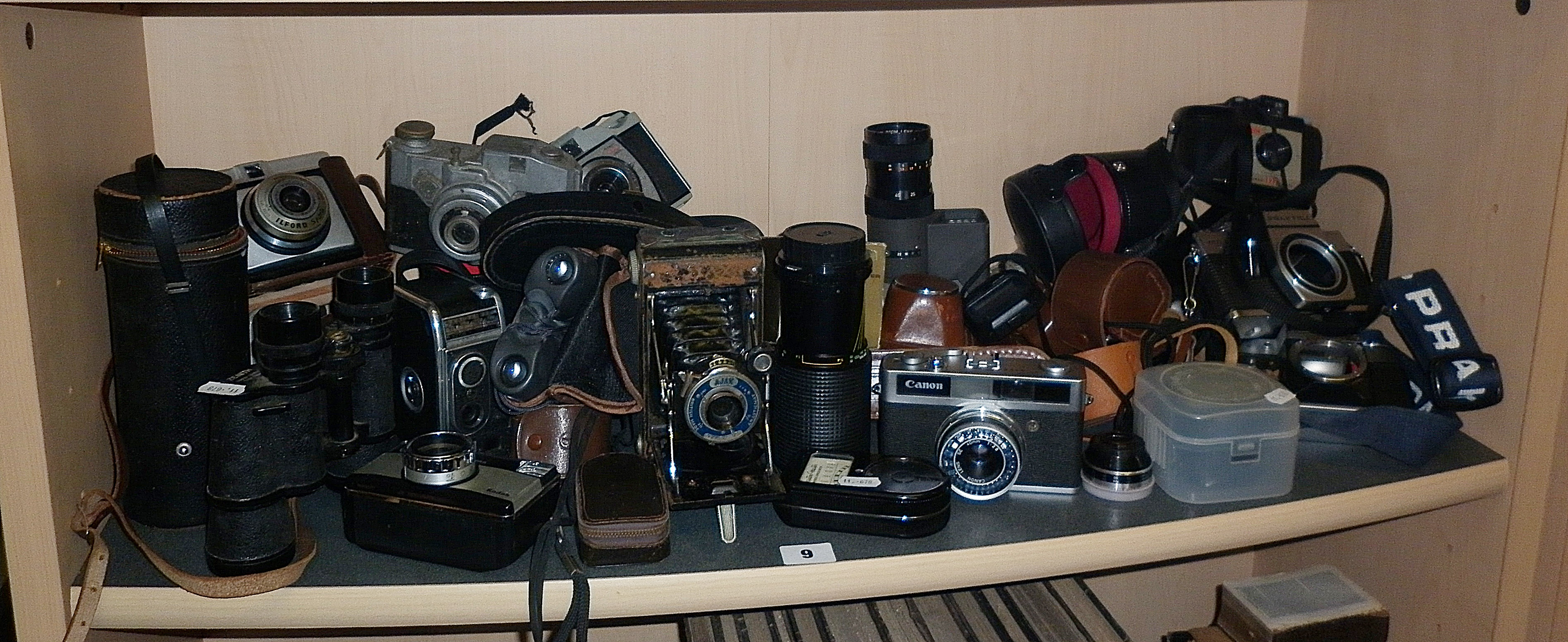 Collection of assorted cameras and light meters