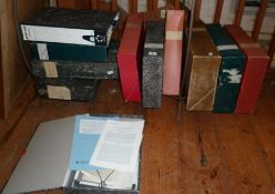 Eleven box files of reference material and papers from the library of Dr Mary Whitear (1924-2018) (