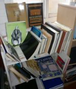 Two shelves of good books on 20th century design, furniture and interiors
