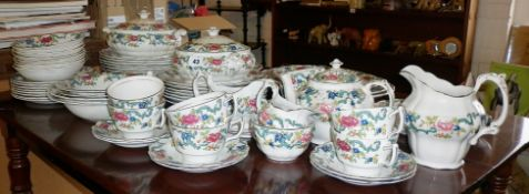 Extensive Booths 'Floradora' china dinner and tea service