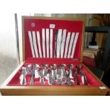 Vintage canteen of 'Savoy' stainless steel cutlery by Spear and Jackson