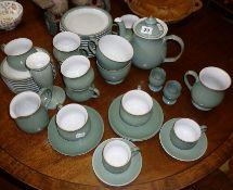 Large quantity of Denby Regency Green teaware