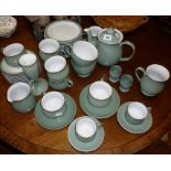 Large quantity of Denby Regency Green teaware