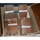 'The British Essayists' 1817, edited by Alexander Chalmers, 45 vols, calf bindings, worn and