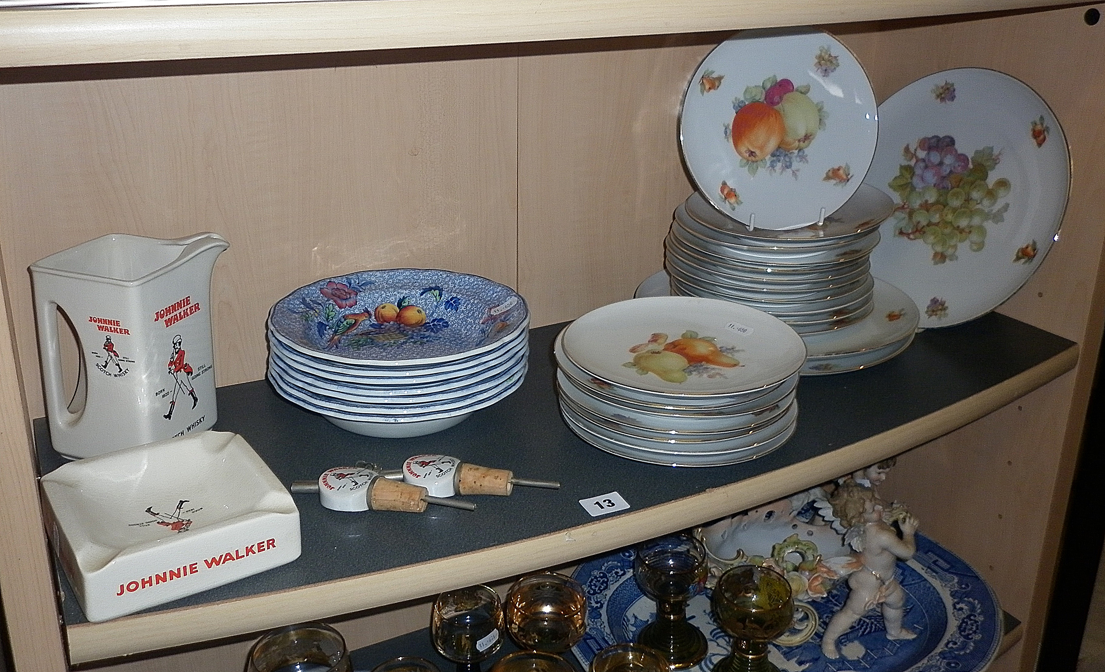 Large quantity of Arzberg, Bavaria platters together with Wade Johnnie Walker Whisky jug and ashtray
