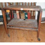 "1930's ""Revertable"" oak trolley/table buffet"