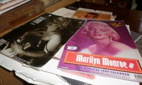 Two Pirelli calendars, two Marilyn Monroe calendars and other similar glamour calendars (one