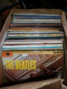 Large box of assorted vinyl LP's