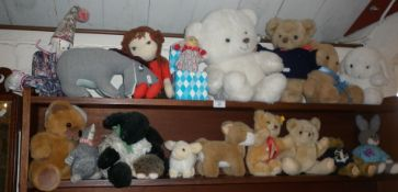 Collection of assorted soft toys, inc. Disney Eeyore, Jack in the Box, teddy bears etc.