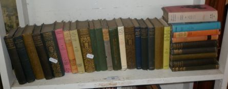 Shelf of small classics novels