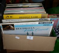 Box of assorted classical vinyl LP's
