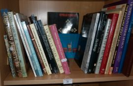 Shelf of books on Victorian Interior Design & Furniture etc.