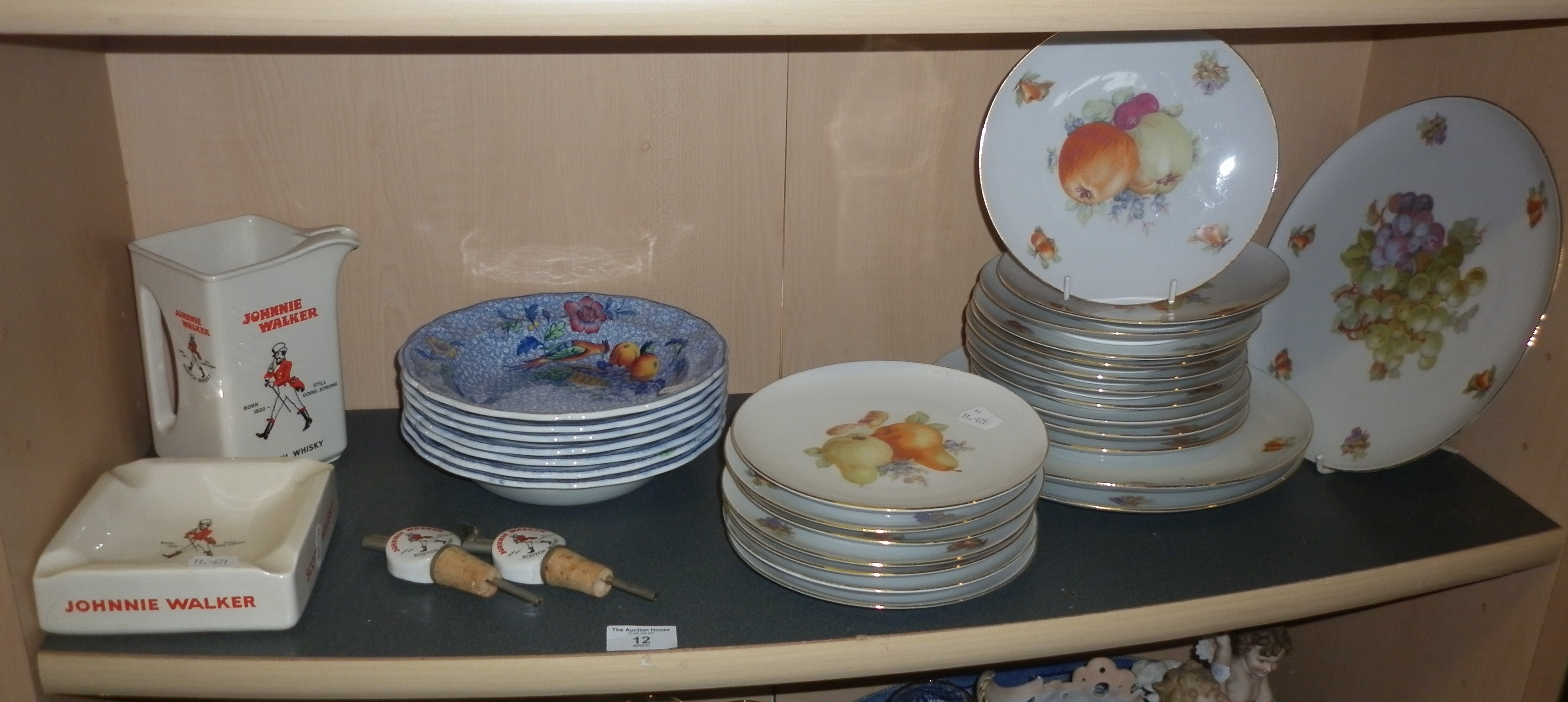 Large quantity of Arzberg, Bavaria platters together with Wade Johnnie Walker Whisky jug and