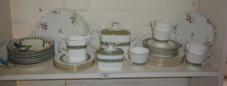 Royal Doulton 'Rondelay' bone china tea set with teapot and other china