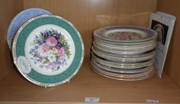 21 Chelsea Flower Show Wedgwood and Royal Doulton bone china plates (with COA's)