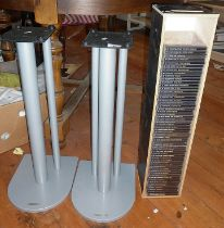 "Two Atacama speaker stands and almost complete set of CDs of ""The Blues Collection"""