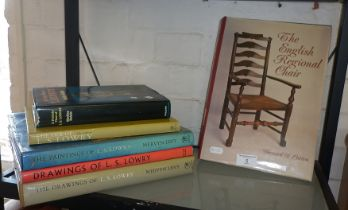 The English Regional Chair, Bernard D. Collon and five books on L.S. Lowry