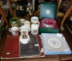 Commemorative china items and two 1910-1935 Silver Jubilee books