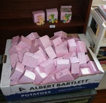 "Very large quantity of boxed resin ""Alphabet"" teddy bear figures"