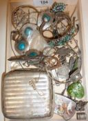 Assorted vintage and antique jewellery, some scrap silver, some Sterling and rolled gold