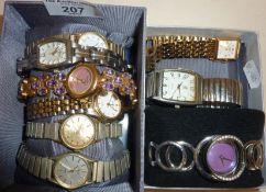 Ladies wrist watches, some vintage, inc. Solvil et Titus, Carvel, Montaine, Seiko, etc.