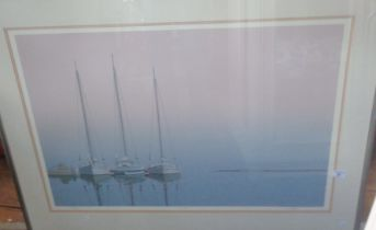 """A large Keith Reynolds 25 colour serigraph titled """"At Rest"""", 275/495, image size 22"""" x 33"""", frame"""