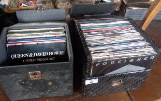 Two cases of vinyl singles