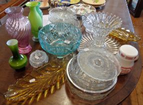 Large quantity of moulded glassware