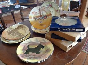 12 assorted Royal Doulton plates and one other