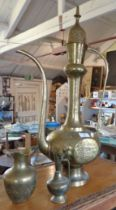 Turkish brass coffee pot and two others