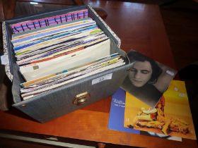 Case of vinyl singles records