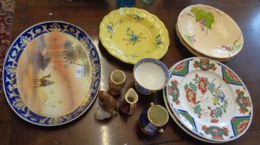 Noritake oval dish with Arabian scene and other china