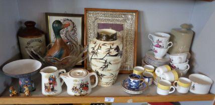 Assorted china etc., one shelf