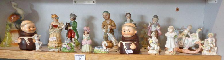 Various china figurines