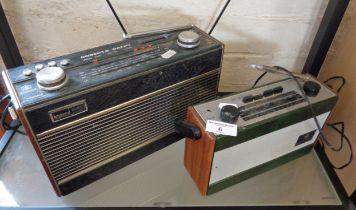 Roberts R757 3 band radio and a Roberts Model R800 radio