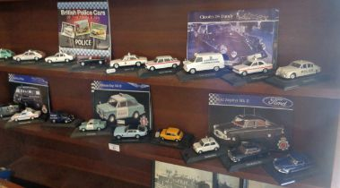 Collection of Atlas Edition diecast police cars (18)