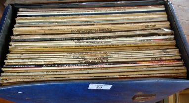 Case of vinyl LP's, c. 1950's and 1960's