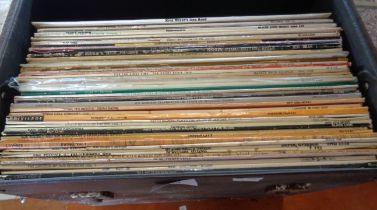 Case of vinyl LP's, approx. 50 Jazz albums