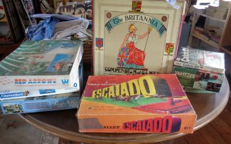 The Britannia Games Compendium, Chad Valley Escalado board game, two others and jigsaws