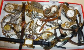 Quantity of wrist watches and parts, many vintage. Makers inc. Tissot, Montine, Zaria, etc.
